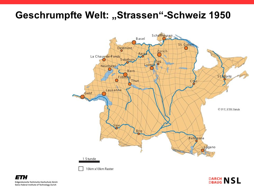 Geschrumpfte Welt: Strassen-Schweiz 1950