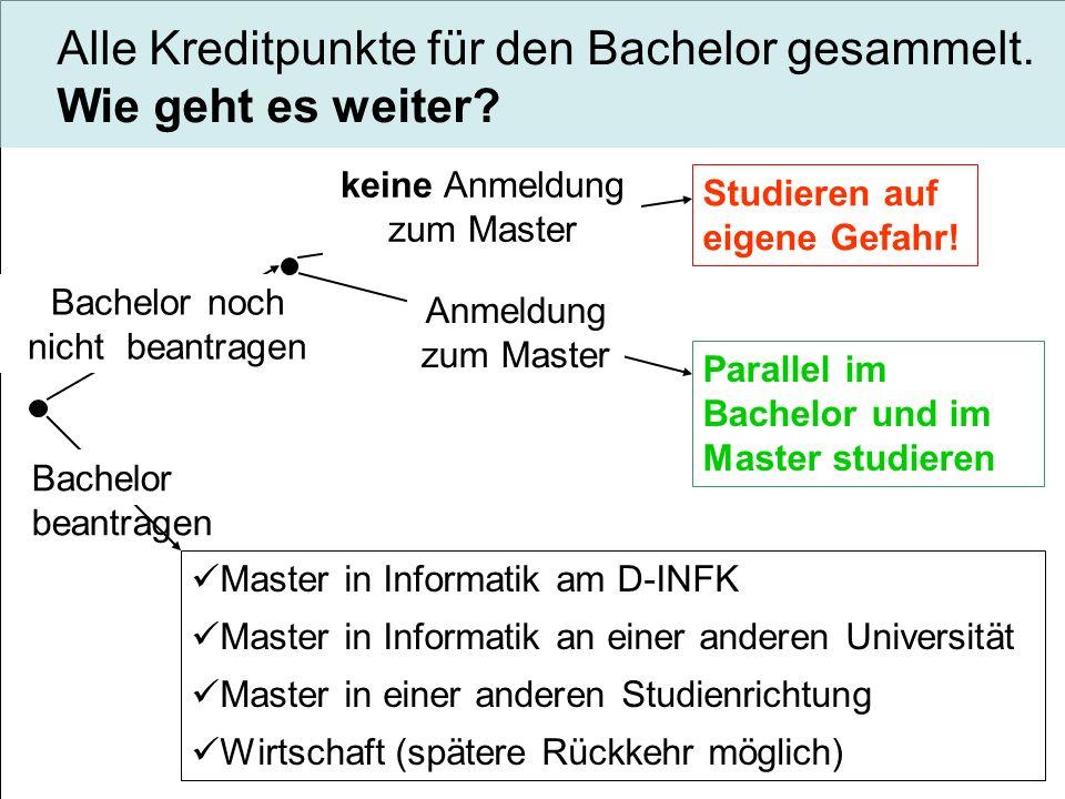 Bachelor noch nicht beantragen Bachelor beantragen keine Anmeldung zum Master Studieren auf eigene Gefahr.