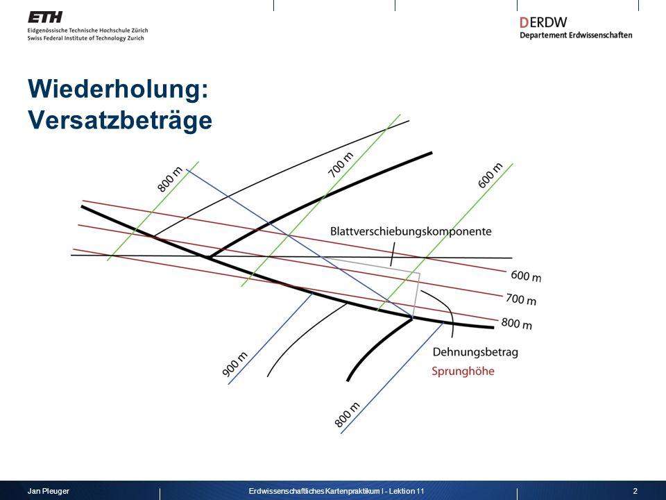 Jan Pleuger3Erdwissenschaftliches Kartenpraktikum I - Lektion 11 Wiederholung: