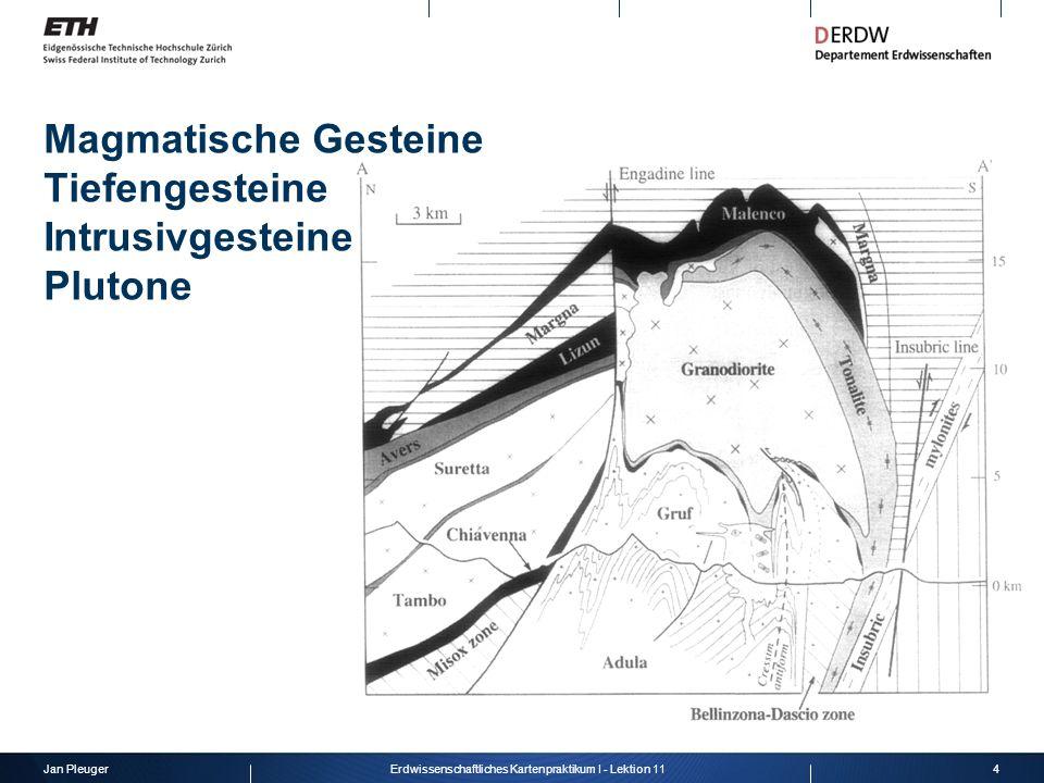 Jan Pleuger5Erdwissenschaftliches Kartenpraktikum I - Lektion 11 Magmatische Gesteine Gänge Lagergang (Sill) Gang (Dyke)