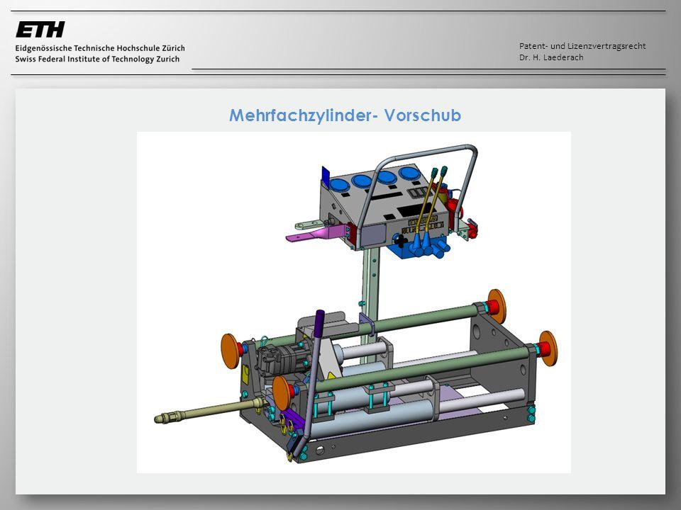 Patent- und Lizenzvertragsrecht Dr. H. Laederach Mehrfachzylinder- Vorschub