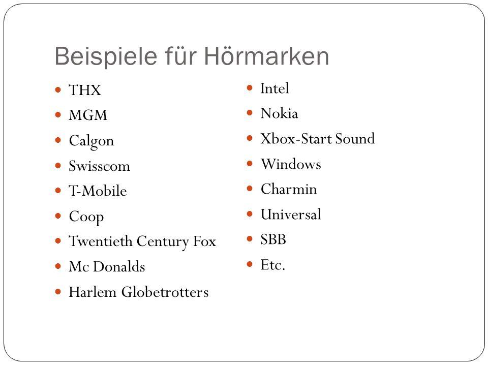 Inhaltsverzeichnis Beispiele für Hörmarken Was ist eine Hörmarke.
