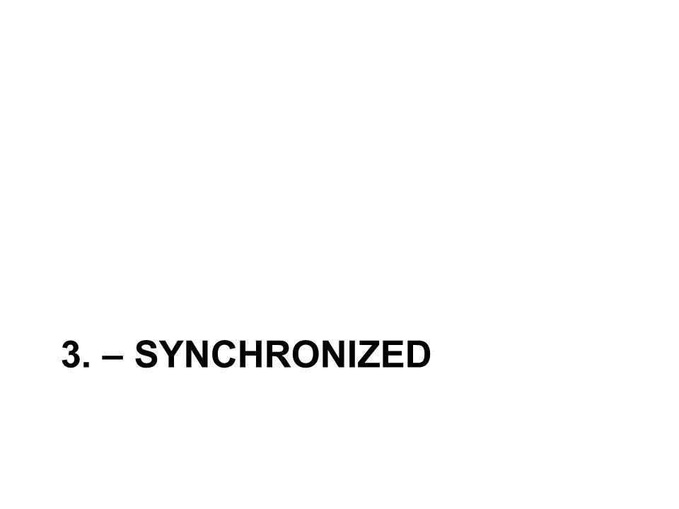 3. – SYNCHRONIZED