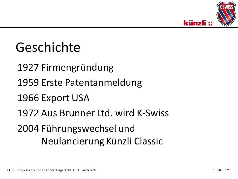 Geschichte 1927 Firmengründung 1959 Erste Patentanmeldung 1966 Export USA 1972 Aus Brunner Ltd.