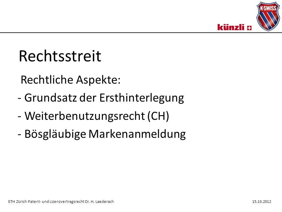 Rechtsstreit Künzli wehrt sich: - widerrechtliche Herkunftsangabe - Sondermodell WHY.