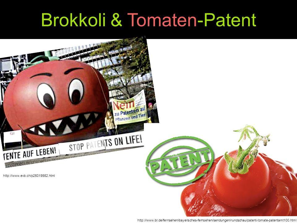Brokkoli & Tomaten-Patent http://www.evb.ch/p25019982.html http://www.br.de/fernsehen/bayerisches-fernsehen/sendungen/rundschau/patent-tomate-patentam