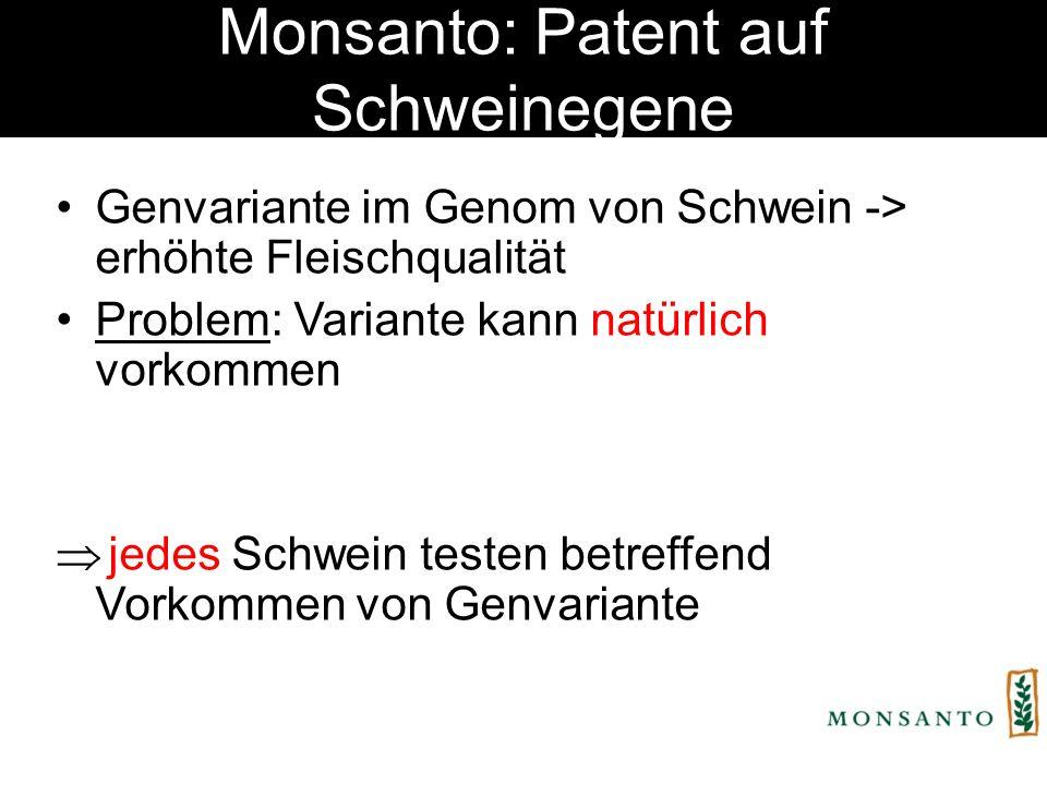 Brokkoli & Tomaten-Patent Brokkoli-Patent EP1069819Tomaten-Patent EP1211926 Anmeldung 1999 Erteilt 2002 durch EPA Anteile an Glucosinolaten Markergestütztes Züchtungsverfahren Konventionell gezüchtete Pflanzen Umfasst ges.