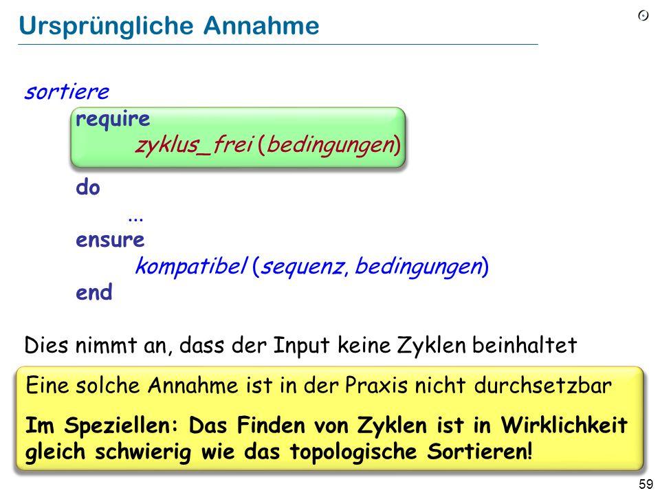 59 Ursprüngliche Annahme sortiere require zyklus_frei (bedingungen) do...