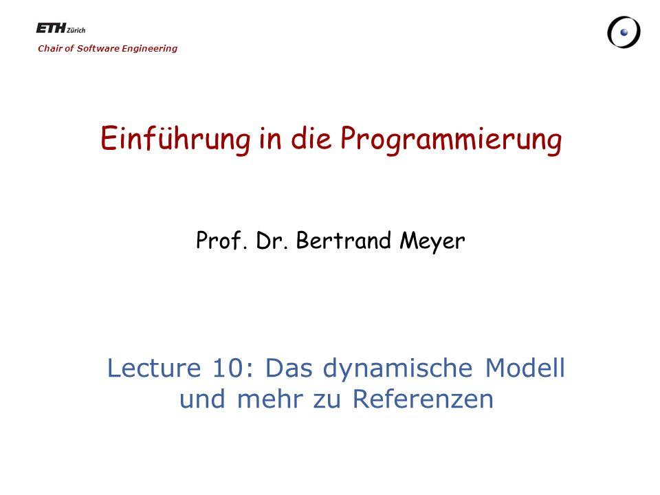 12 Eine Liste umkehren from pivot := first_element first_element := Void until pivot = Void loop i := first_element first_element := pivot pivot := pivot.