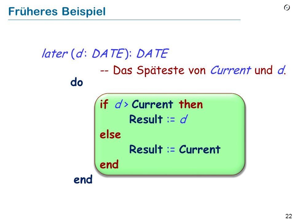 21 Ist semantisch äquivalent zu if Bedingung then Instruktionen else end Eine Variante des Konditionals if Bedingung then Instruktionen end Leere Klausel