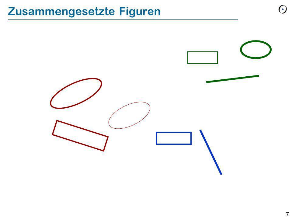 8 Mehrfachvererbung: Zusammengesetzte Figuren Eine zusammengesetzte Figur Einfache Figuren