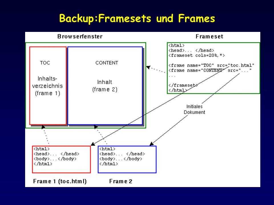 Backup:Framesets und Frames