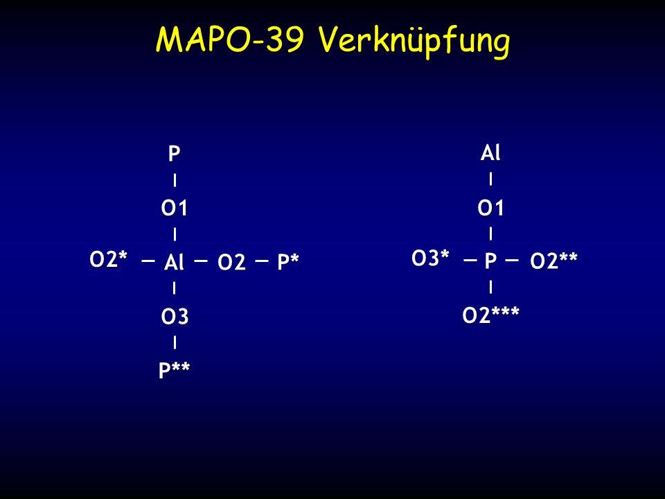 MAPO-39 Verknüpfung Al O1 O3 O2 O2* P P* P** P O1 O2*** O2** O3* Al