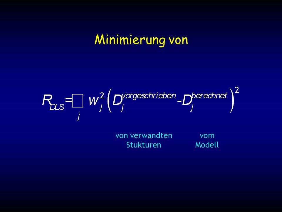 Minimierung von von verwandten StukturenvomModell
