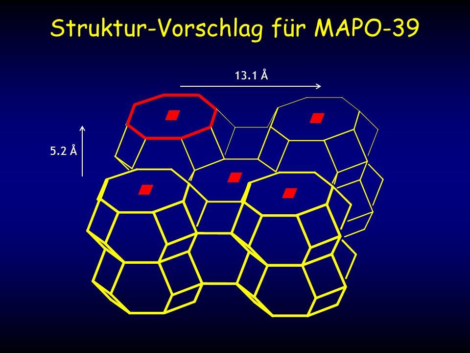 13.1 Å 5.2 Å Struktur-Vorschlag für MAPO-39