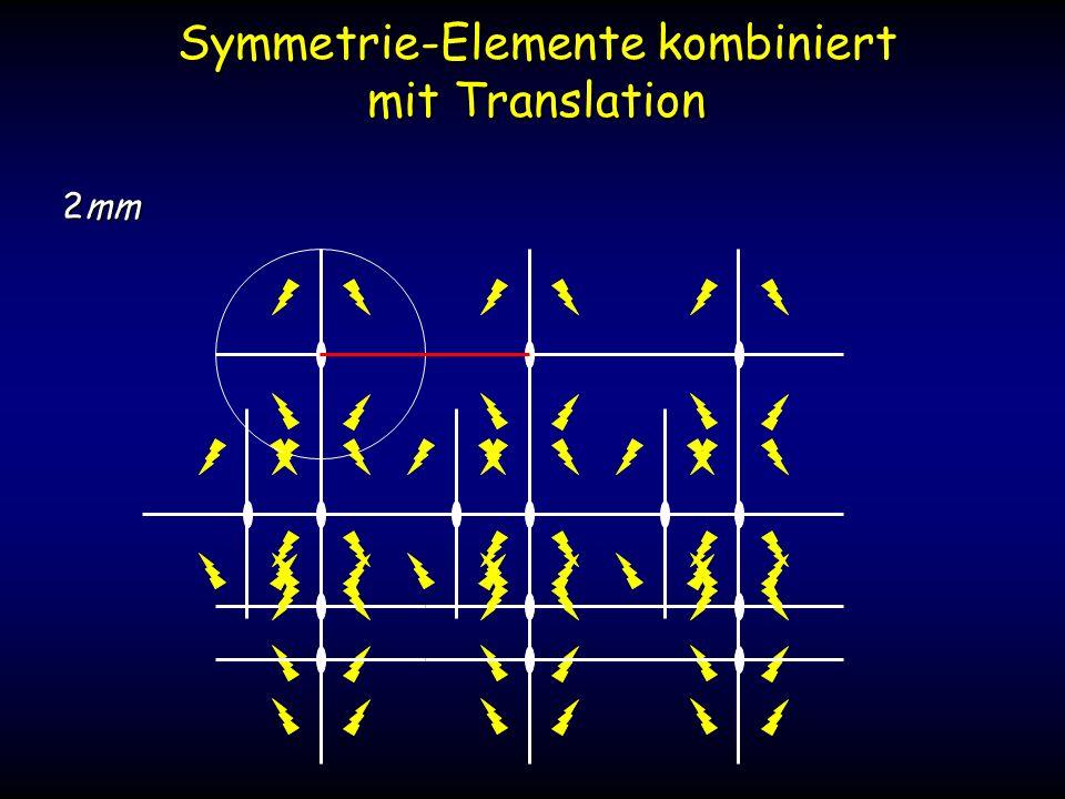 Symmetrie-Elemente kombiniert mit Translation 2mm