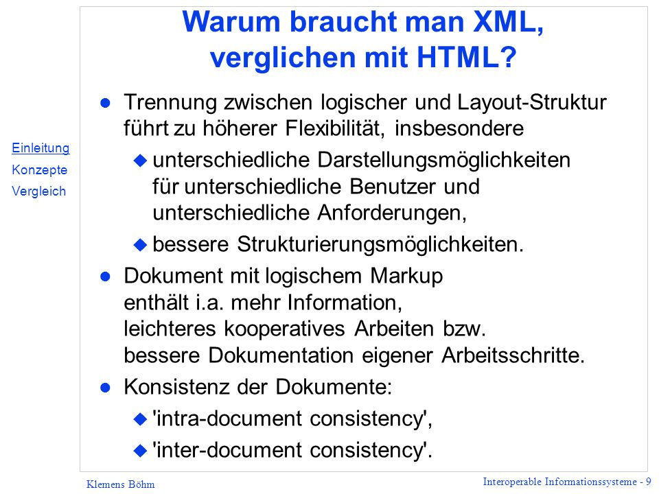 Interoperable Informationssysteme - 20 Klemens Böhm Hamlet: Elementbaum Dokument- Element act ist enthalten in play Pfad scene...