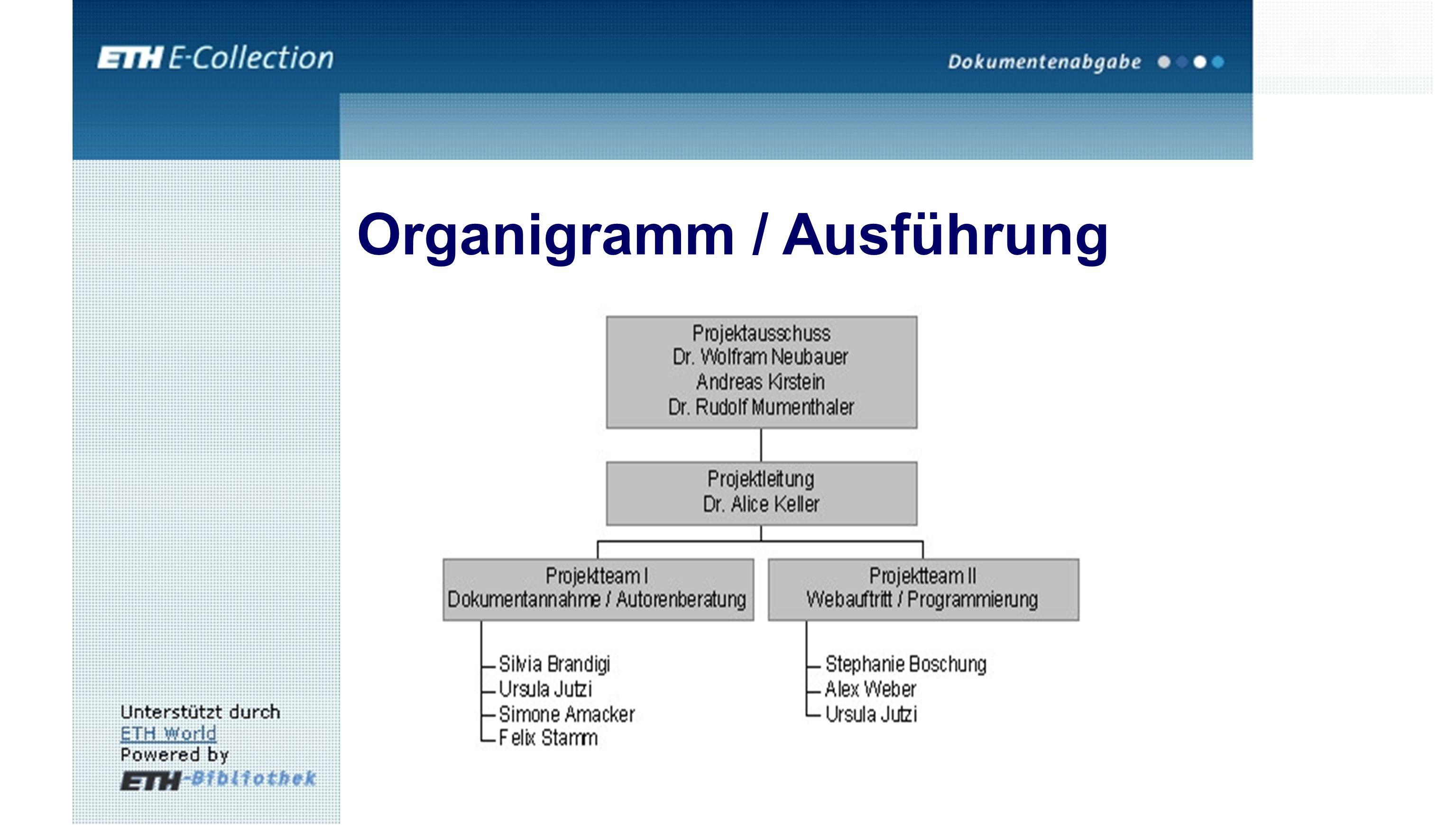 Organigramm / Ausführung