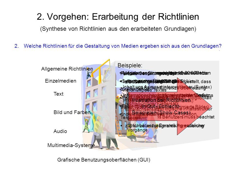 Schwingfrequenz zwischen 16-20000 Hz Intensität zwischen 0-80 dB Qualität Steuerbarkeit (Wiederholbarkeit, Möglichkeit der Abschaltung) Gleichzeitige