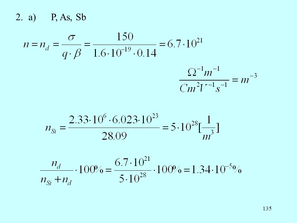 135 2.a) P, As, Sb