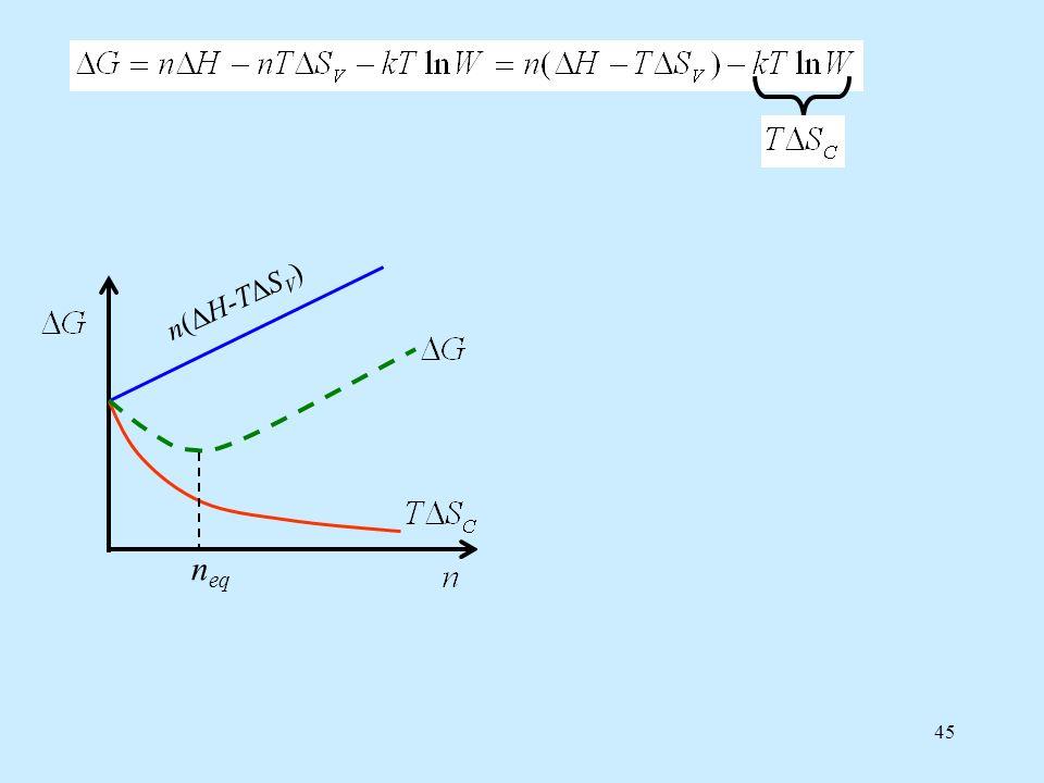 45 n eq n(ΔH-TΔSV)n(ΔH-TΔSV) n(ΔH-TΔSV)n(ΔH-TΔSV) n(ΔH-TΔSV)n(ΔH-TΔSV)