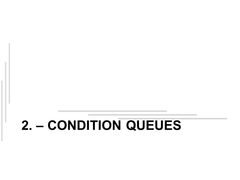 2. – CONDITION QUEUES