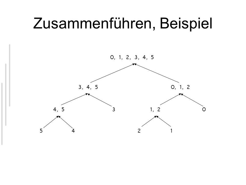 Zusammenführen, Beispiel 0, 1, 2, 3, 4, 5 3, 4, 50, 1, 2 4, 53 54 1, 20 21