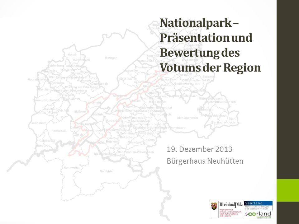 Nationalpark – Präsentation und Bewertung des Votums der Region 19.