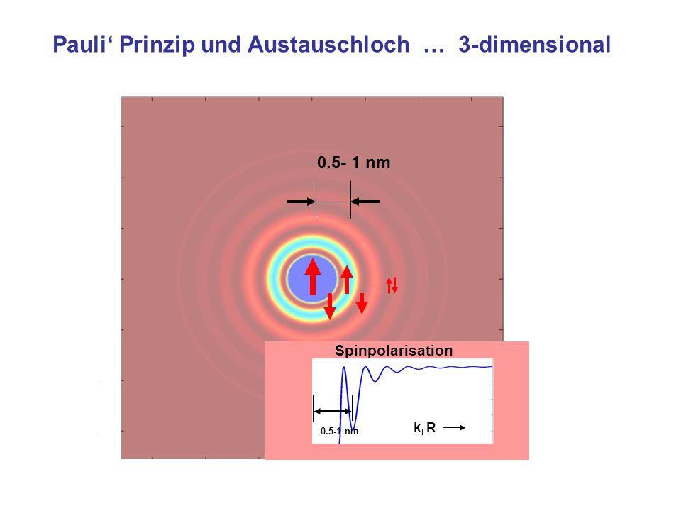 Spinpolarisation kFRkFR Pauli Prinzip und Austauschloch … 3-dimensional 0.5- 1 nm