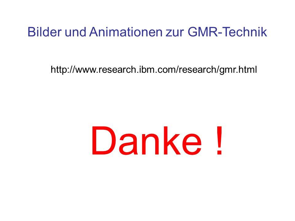 Bilder und Animationen zur GMR-Technik http://www.research.ibm.com/research/gmr.html Danke !