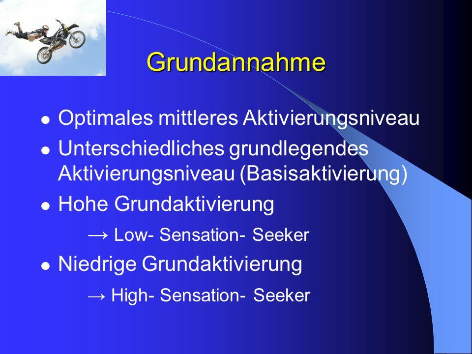 Grundannahme Optimales mittleres Aktivierungsniveau Unterschiedliches grundlegendes Aktivierungsniveau (Basisaktivierung) Hohe Grundaktivierung Low- S