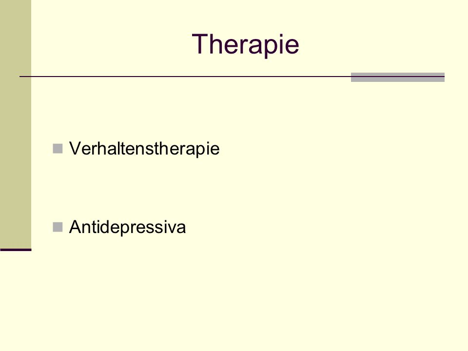 Therapie Verhaltenstherapie Antidepressiva