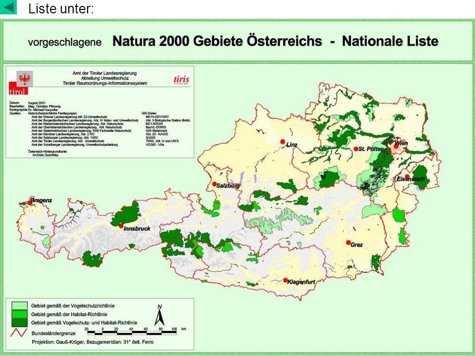 Lebensraumtypen nach FFH Anhang I http://ec.europa.eu/environment/nature/nature_conservation/eu_enlargem ent/2004/habitats/annexi_de.pdf Prioritäre Lebensraumtypen in Auen: Abschnitte von Wasserläufen mit natürlicher bzw.