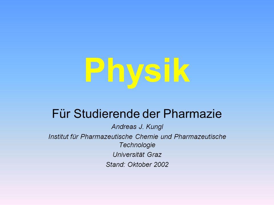 Physik Für Studierende der Pharmazie Andreas J.