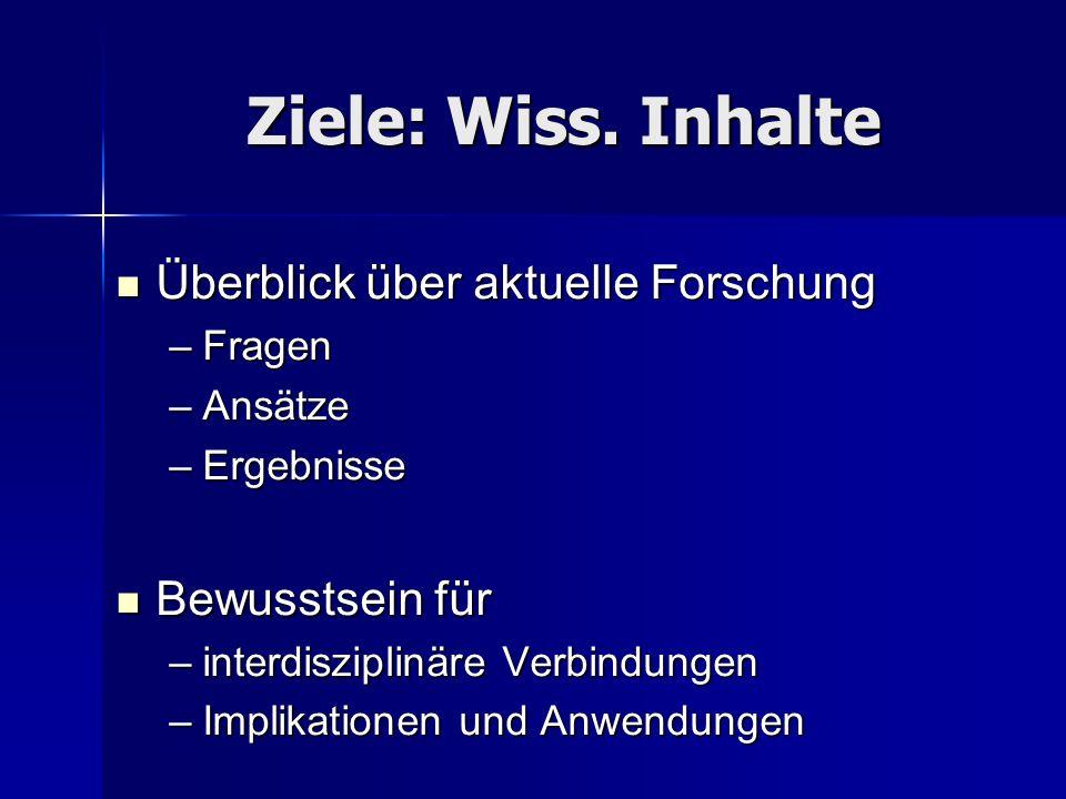 Ziele: Wiss.