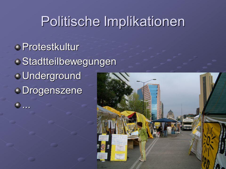 Politische Implikationen ProtestkulturStadtteilbewegungenUndergroundDrogenszene...