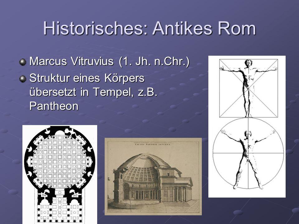 Historisches: Antikes Rom Marcus Vitruvius (1.Jh.