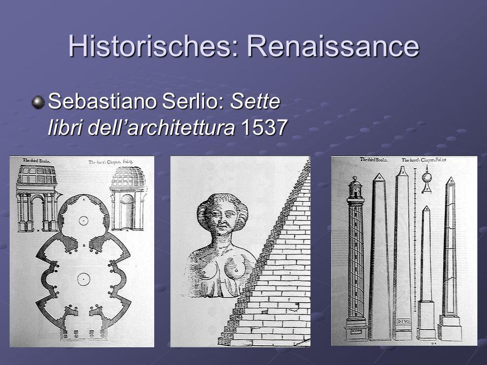 Historisches: Renaissance Sebastiano Serlio: Sette libri dellarchitettura 1537