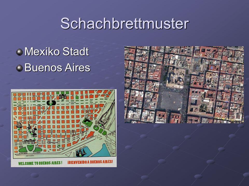 Schachbrettmuster Mexiko Stadt Buenos Aires