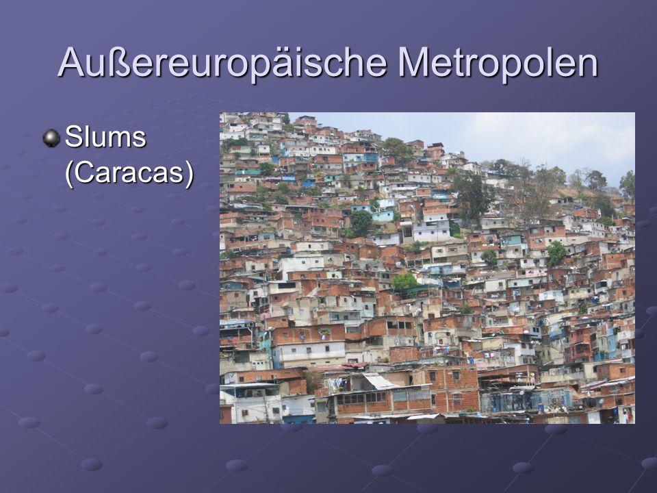 Außereuropäische Metropolen Slums (Caracas)