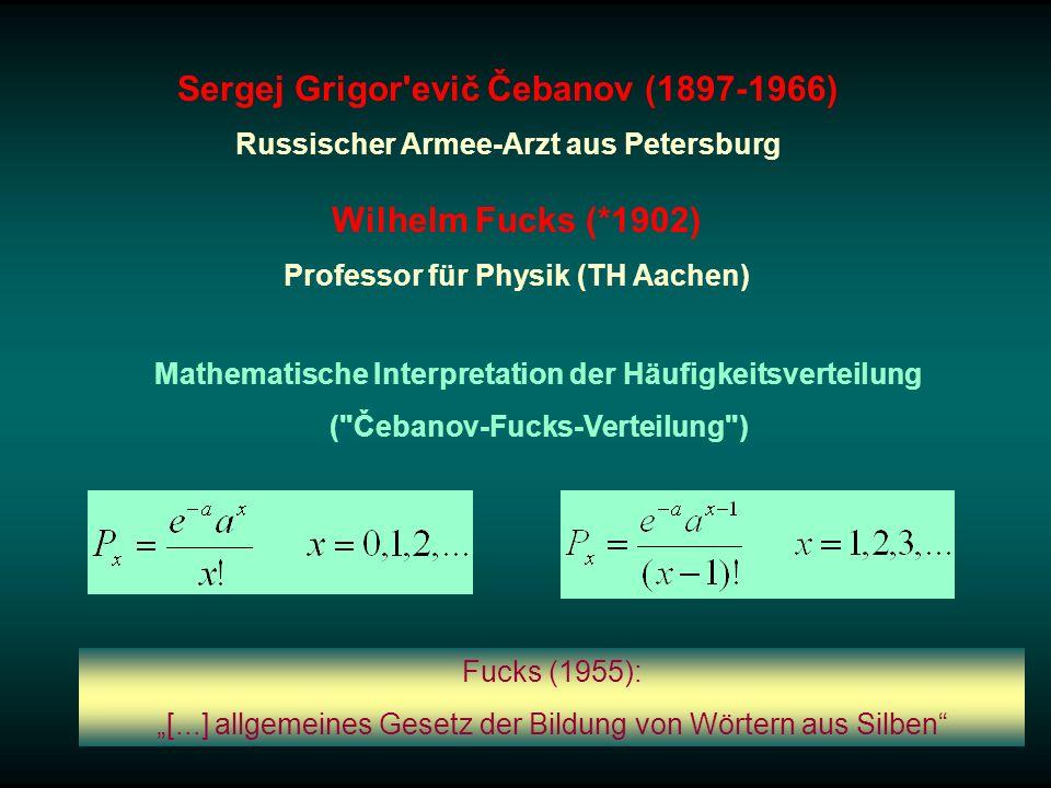 Sergej Grigor'evič Čebanov (1897-1966) Russischer Armee-Arzt aus Petersburg Mathematische Interpretation der Häufigkeitsverteilung (