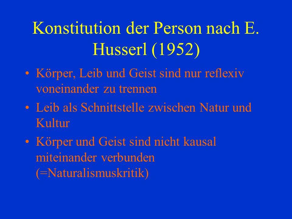 Konstitution der Person nach E.
