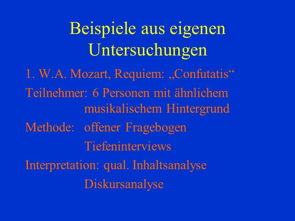 Beispiele aus eigenen Untersuchungen 1.W.A.