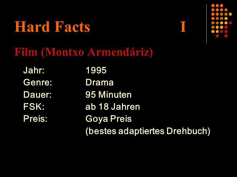 Hard Facts I Film (Montxo Armendáriz) Jahr:1995 Genre:Drama Dauer:95 Minuten FSK:ab 18 Jahren Preis:Goya Preis (bestes adaptiertes Drehbuch)