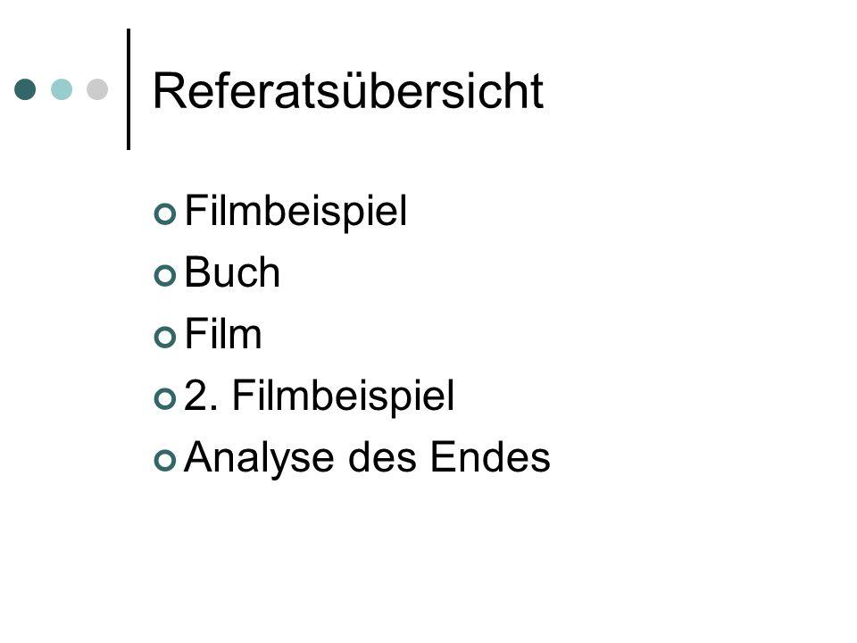 Referatsübersicht Filmbeispiel Buch Film 2. Filmbeispiel Analyse des Endes