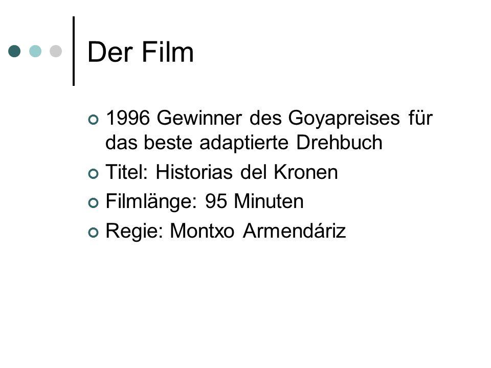 Der Film 1996 Gewinner des Goyapreises für das beste adaptierte Drehbuch Titel: Historias del Kronen Filmlänge: 95 Minuten Regie: Montxo Armendáriz