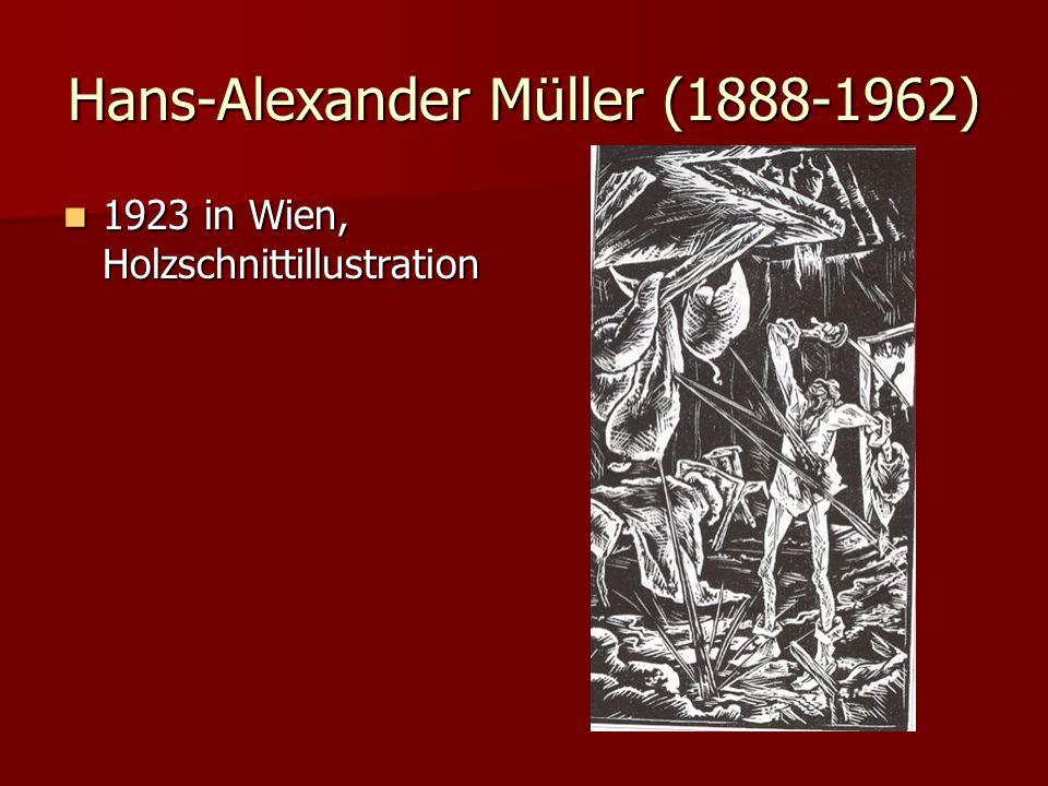 Hans-Alexander Müller (1888-1962) 1923 in Wien, Holzschnittillustration 1923 in Wien, Holzschnittillustration