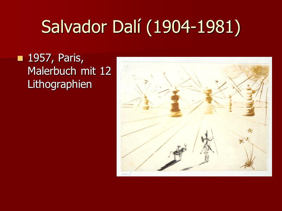 Salvador Dalí (1904-1981) 1957, Paris, Malerbuch mit 12 Lithographien 1957, Paris, Malerbuch mit 12 Lithographien