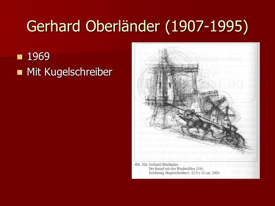 Gerhard Oberländer (1907-1995) 1969 1969 Mit Kugelschreiber Mit Kugelschreiber