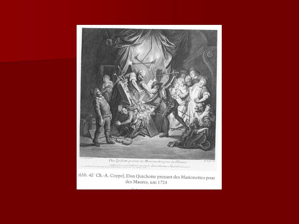 John Vanderbank (1694-1739) Luxusausgabe, London Luxusausgabe, London 68 Illustrationen 68 Illustrationen stilisiert-höfisch stilisiert-höfisch Wandlung vom burlesken zum vorromantischen Quijote Wandlung vom burlesken zum vorromantischen Quijote